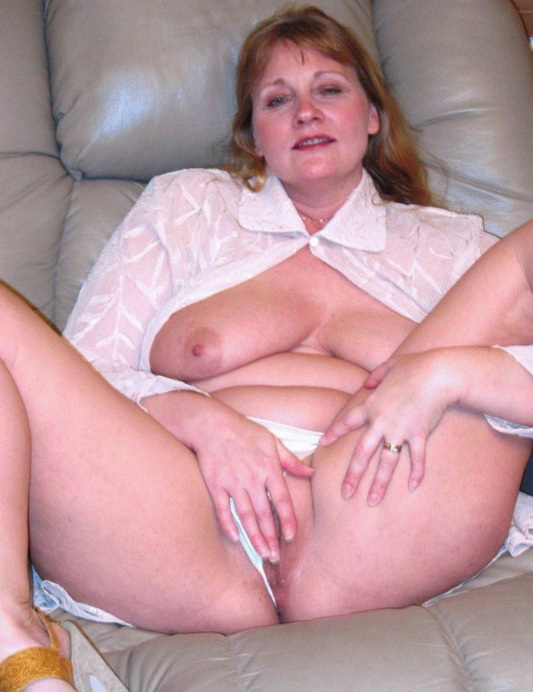 Large mature nude woman think, that