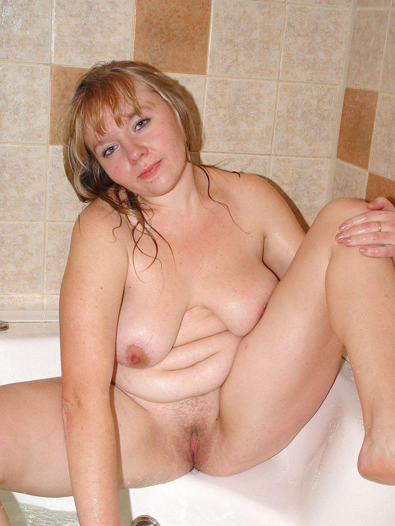 Hairy busty british milf takes big white cock 4