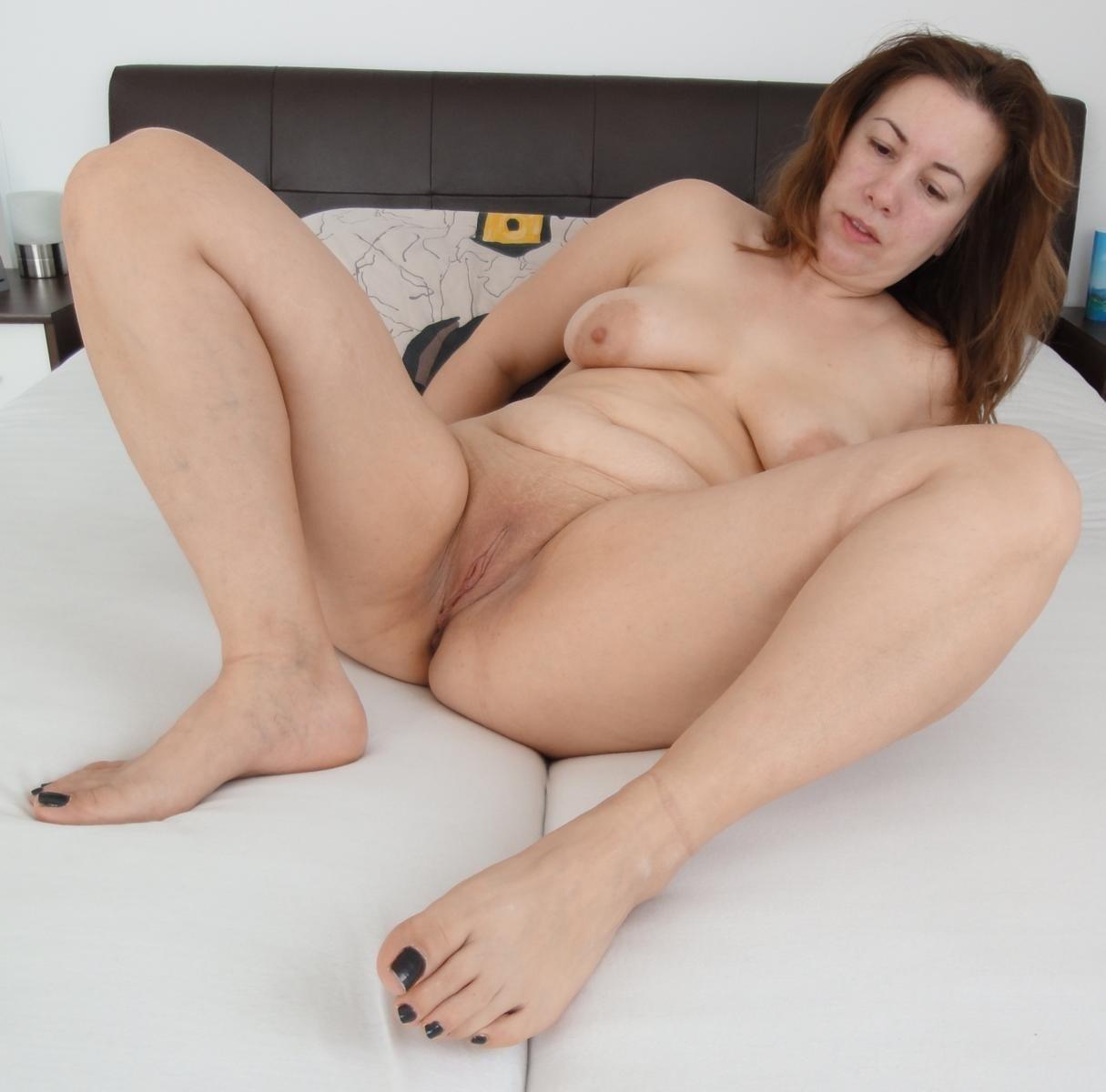Ass chubby mature spread