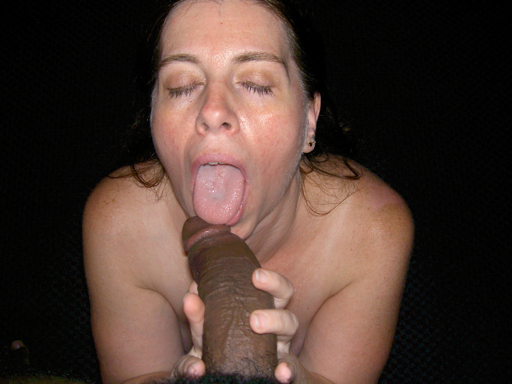 Older chubby wife sucking his cock 9