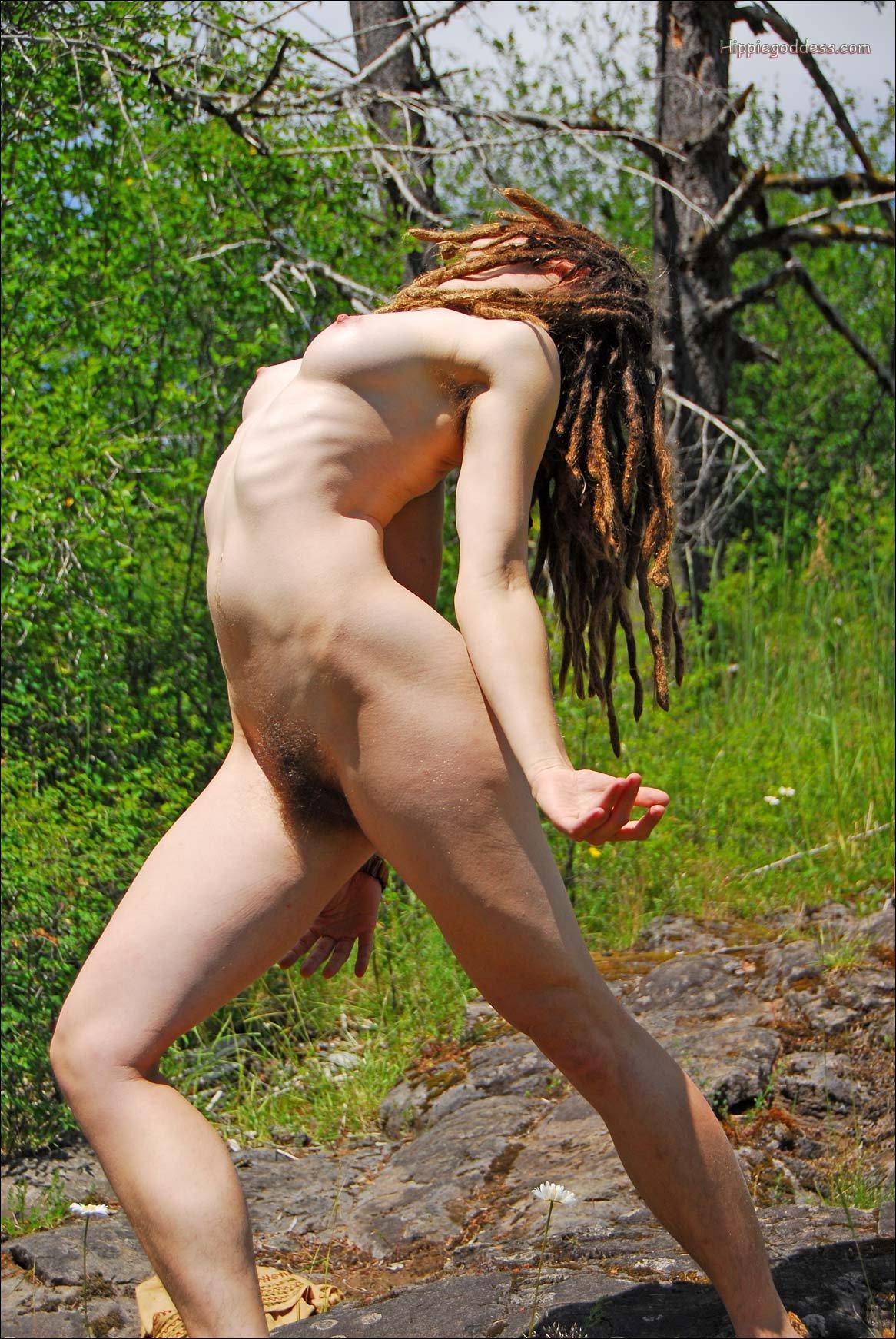 With nude dreadlocks girls hippie