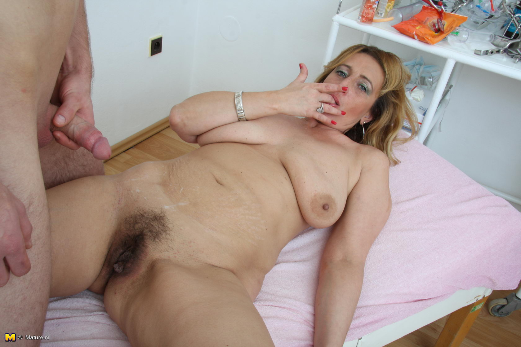 Naked thick white girl gettin fucked