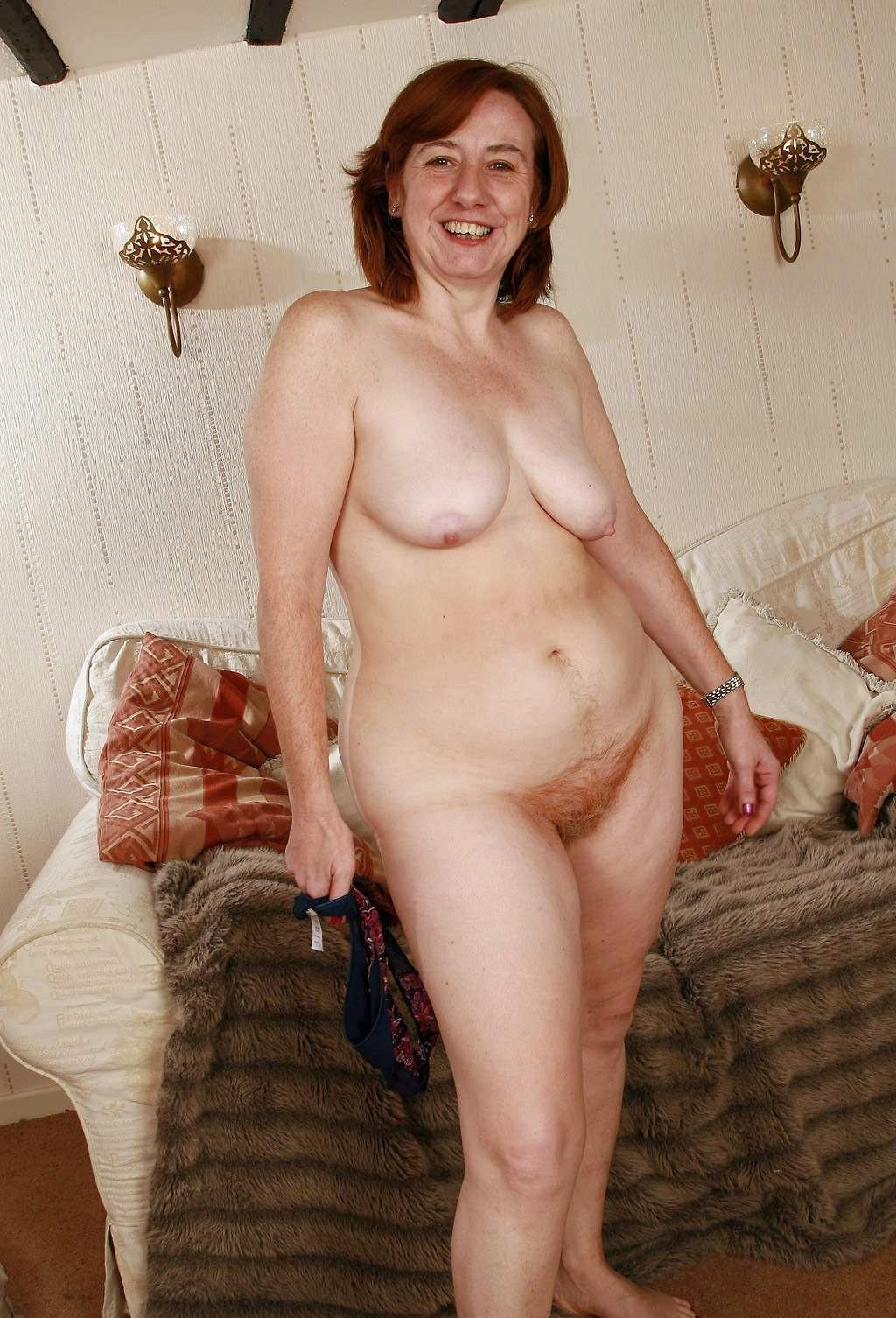 Mature hairy older woman