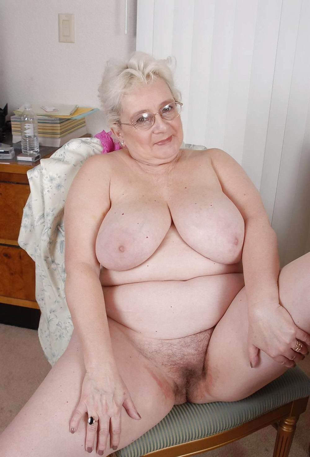 Consider, that Fat old granny naked