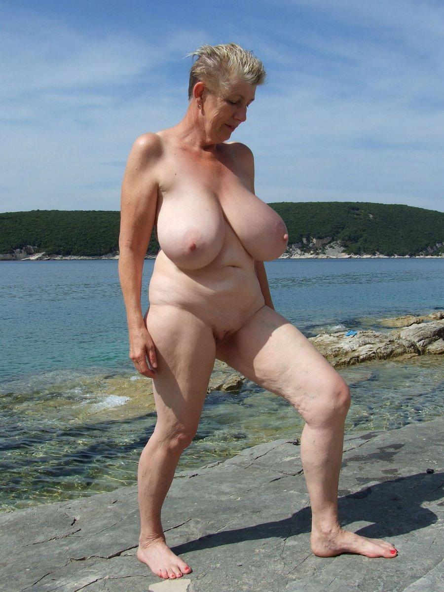 Mature beach tube