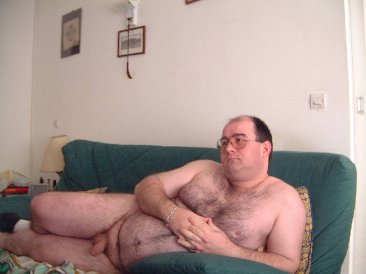 Hairy big naked men fat