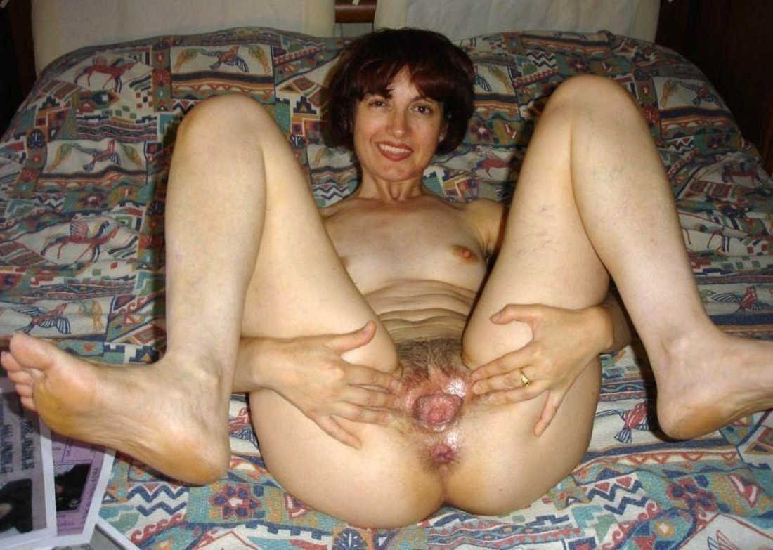 Amateur mature held open pussy agree, this