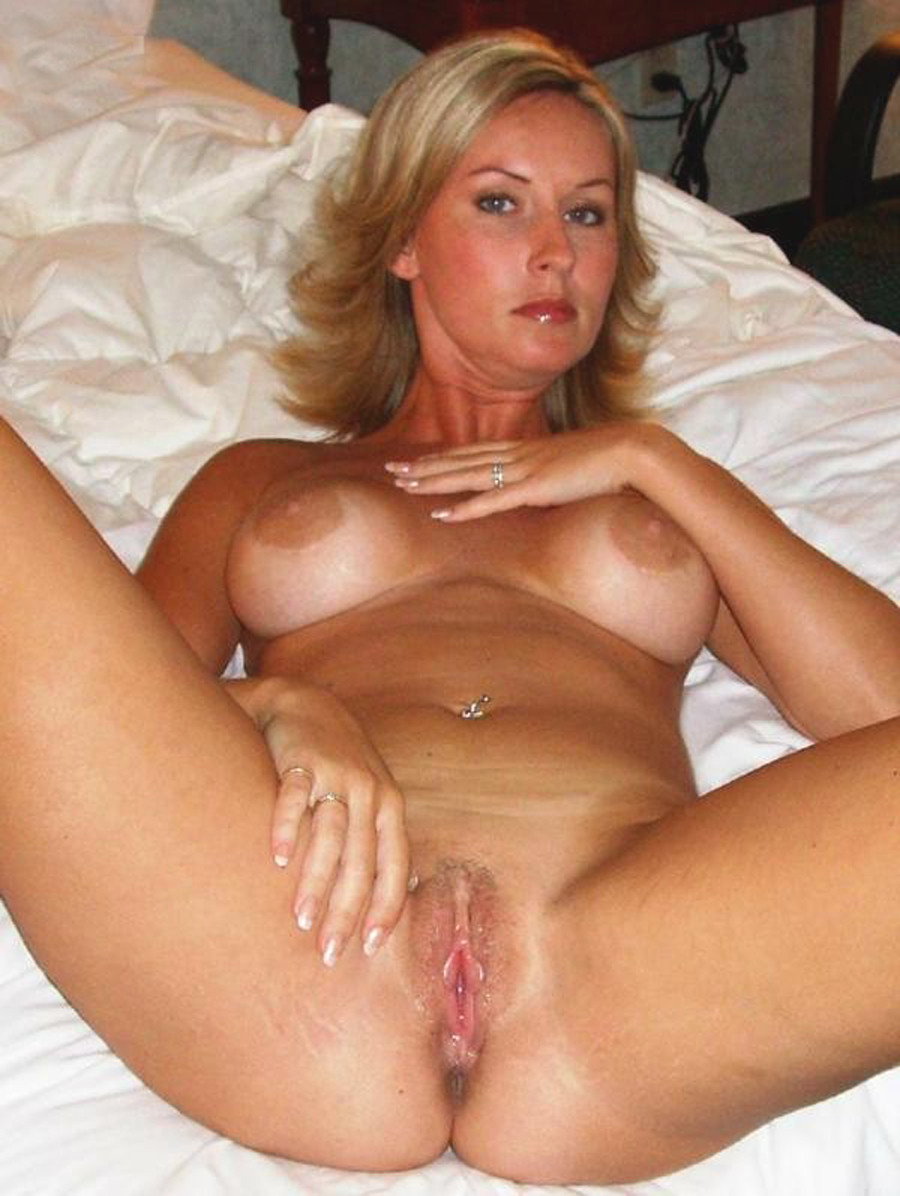 Milf with massive tits giving blowjob