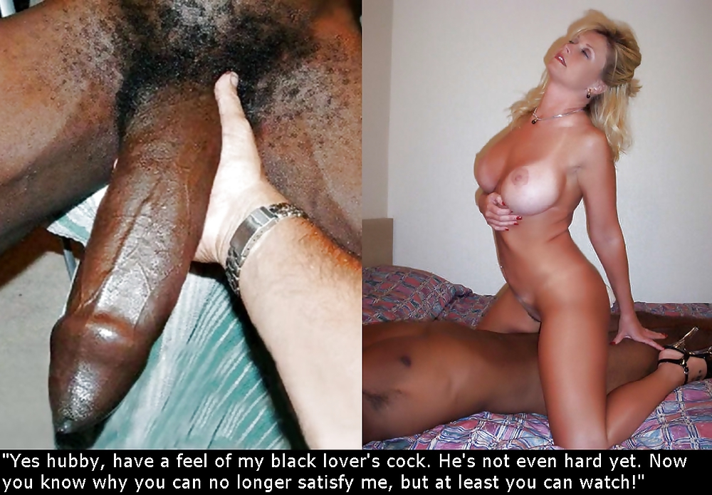 Wife captions breeding interracial cuckold
