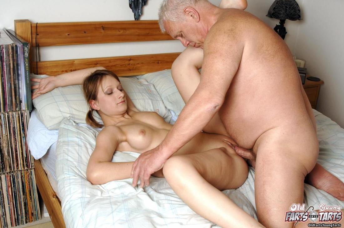 Younger female dating older man