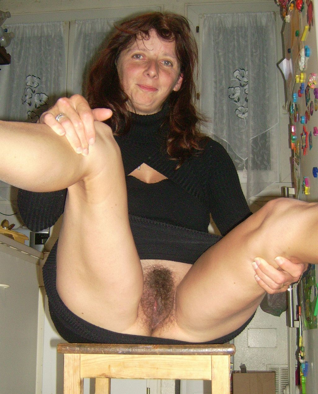 Old hairy upskirt