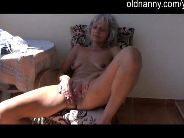 mature old porn mature watch old masturbating balcony