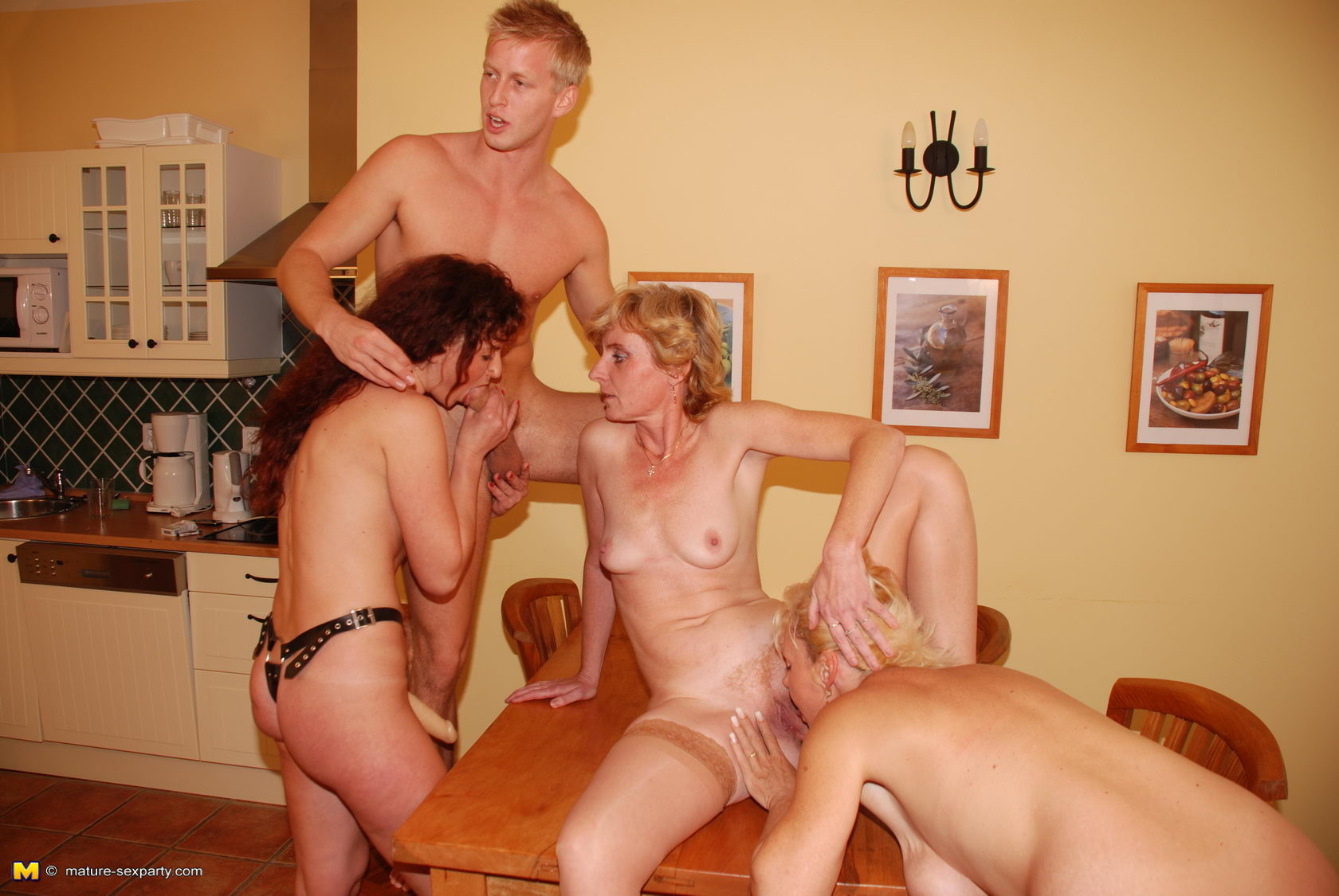 Russian Mature Blonde Boy