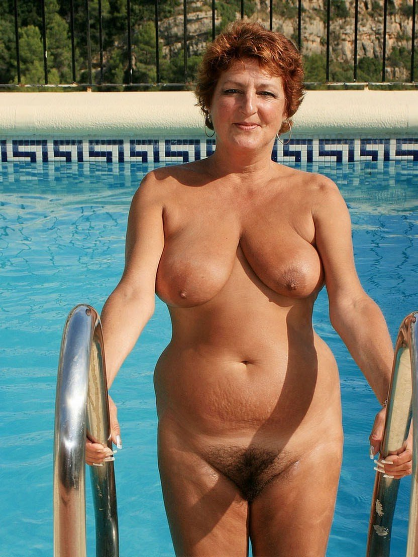 Nude mature Asian beach
