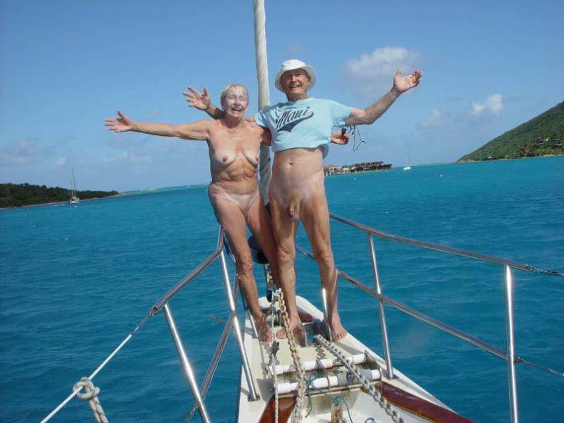 mature nudist pic mature couple naturist nudist sunbathing yacht