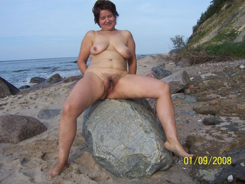 Old women beach sex