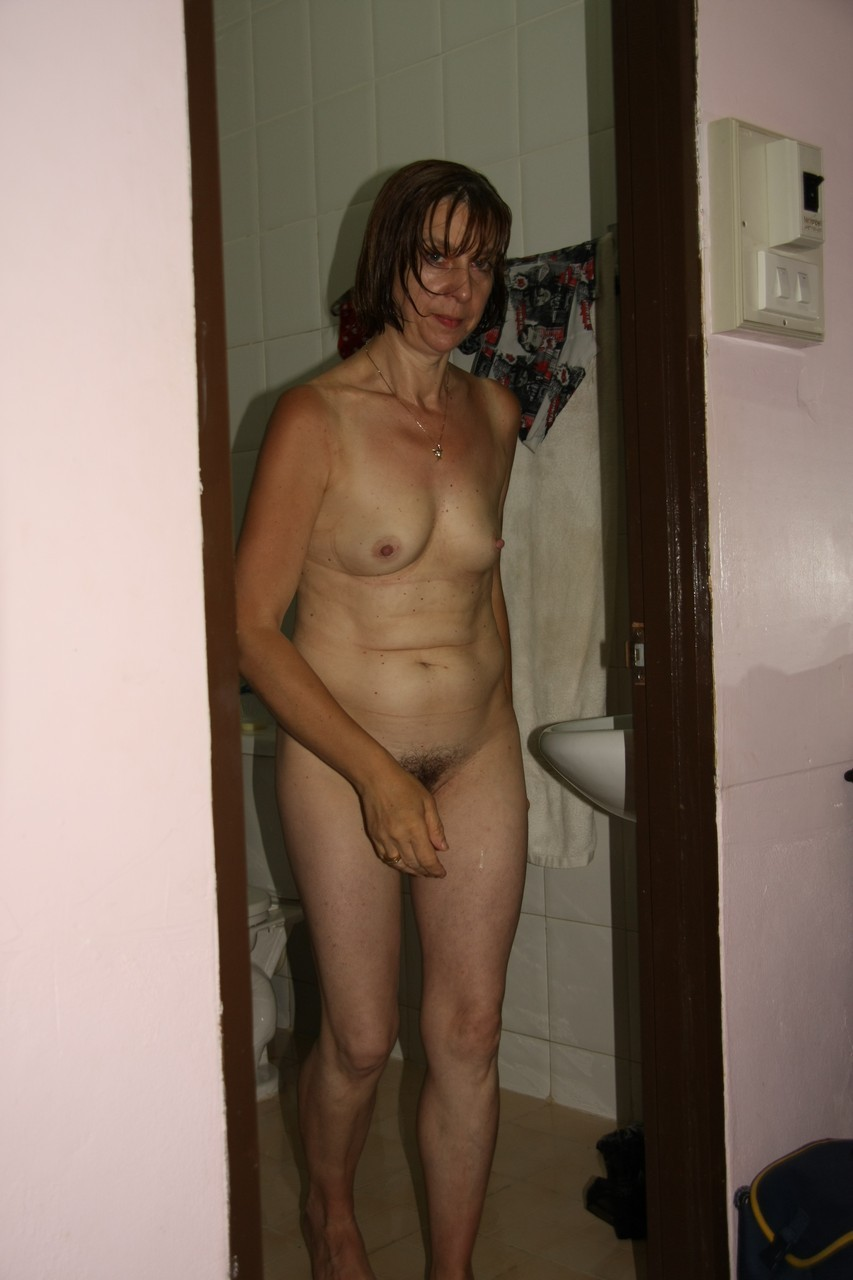 Mature women shower
