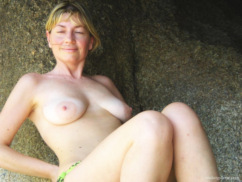 Beach naked on mature women
