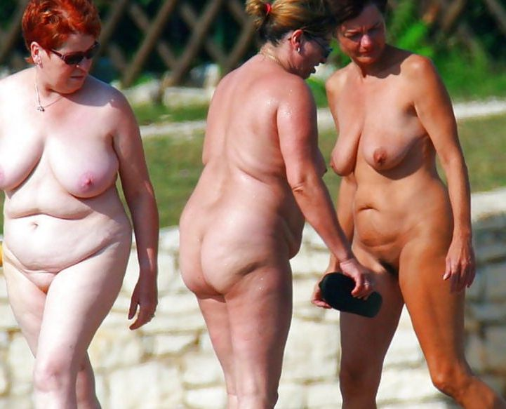 The mature naturist women join. All