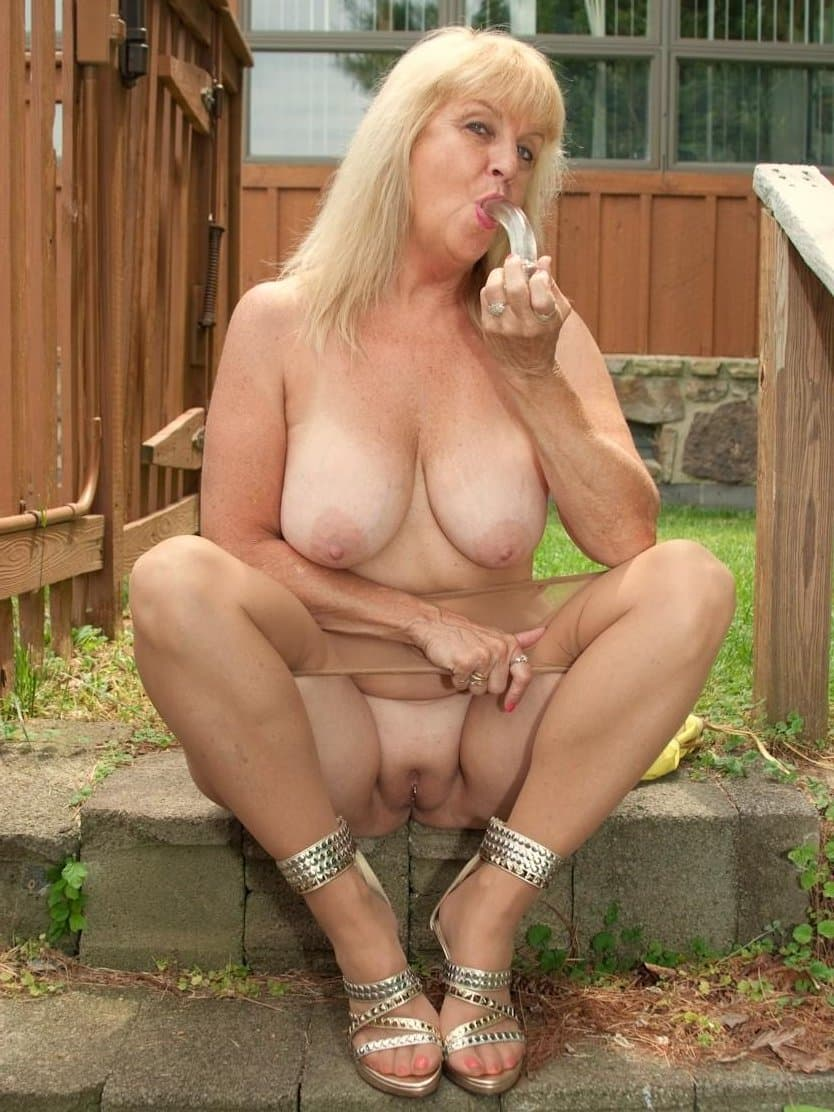 Naked granny outside pics have