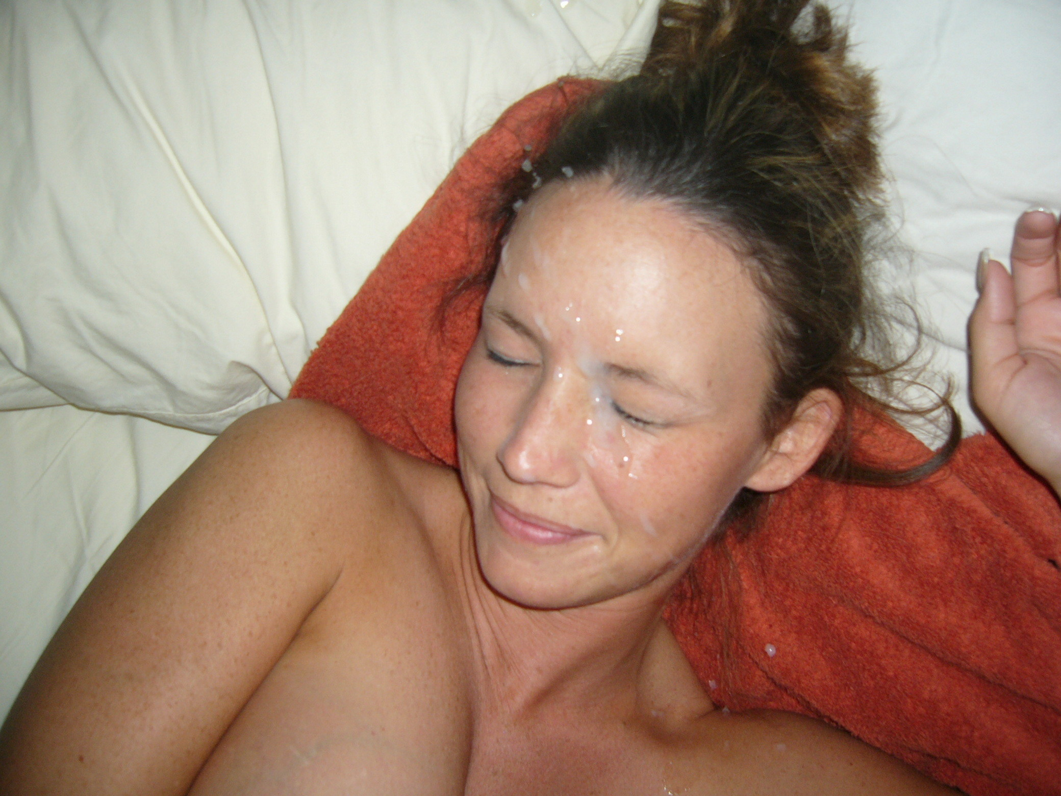 Mature cum facial homemade milf