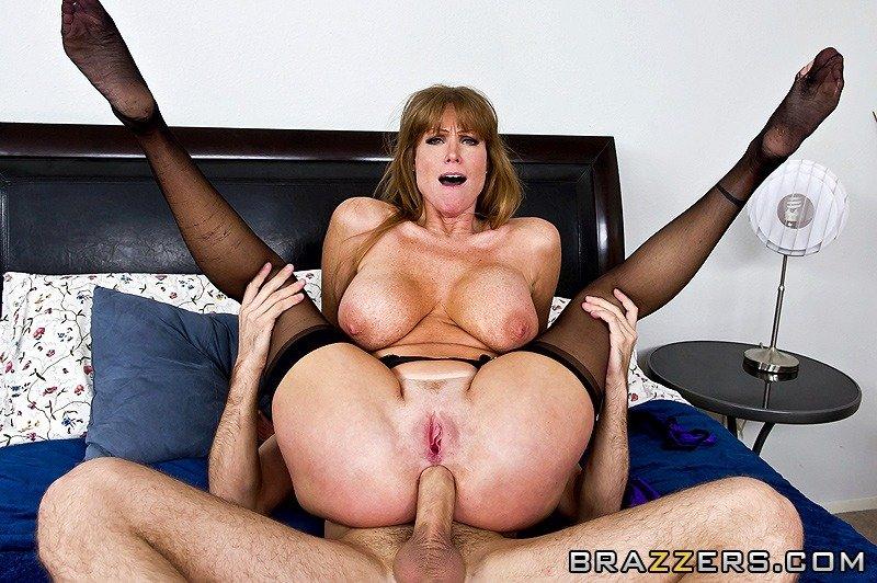 Mature stockings anal