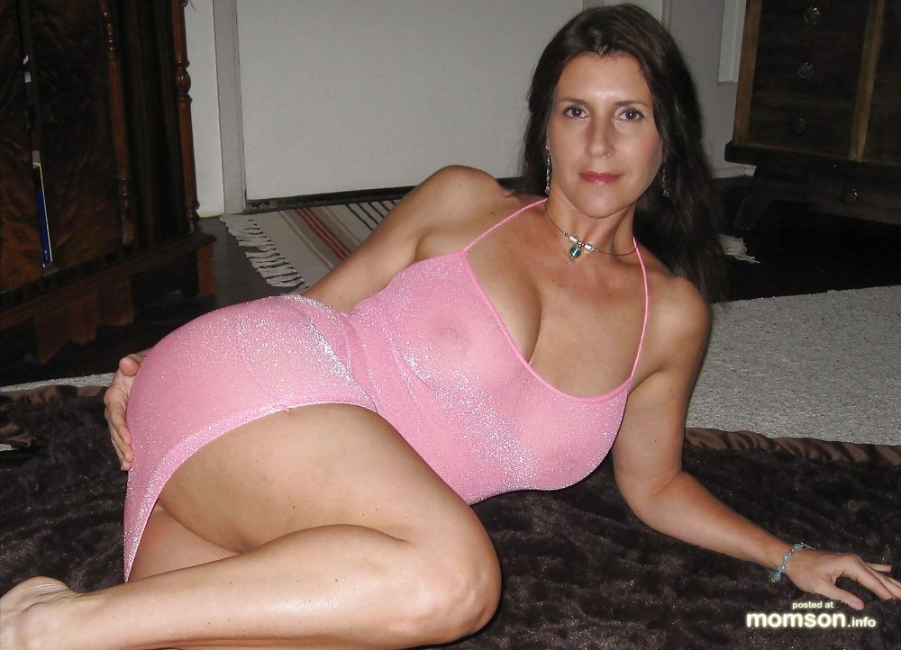 Mom Hot Naked Nude Mother Busty Dress Pink See Through Lorena