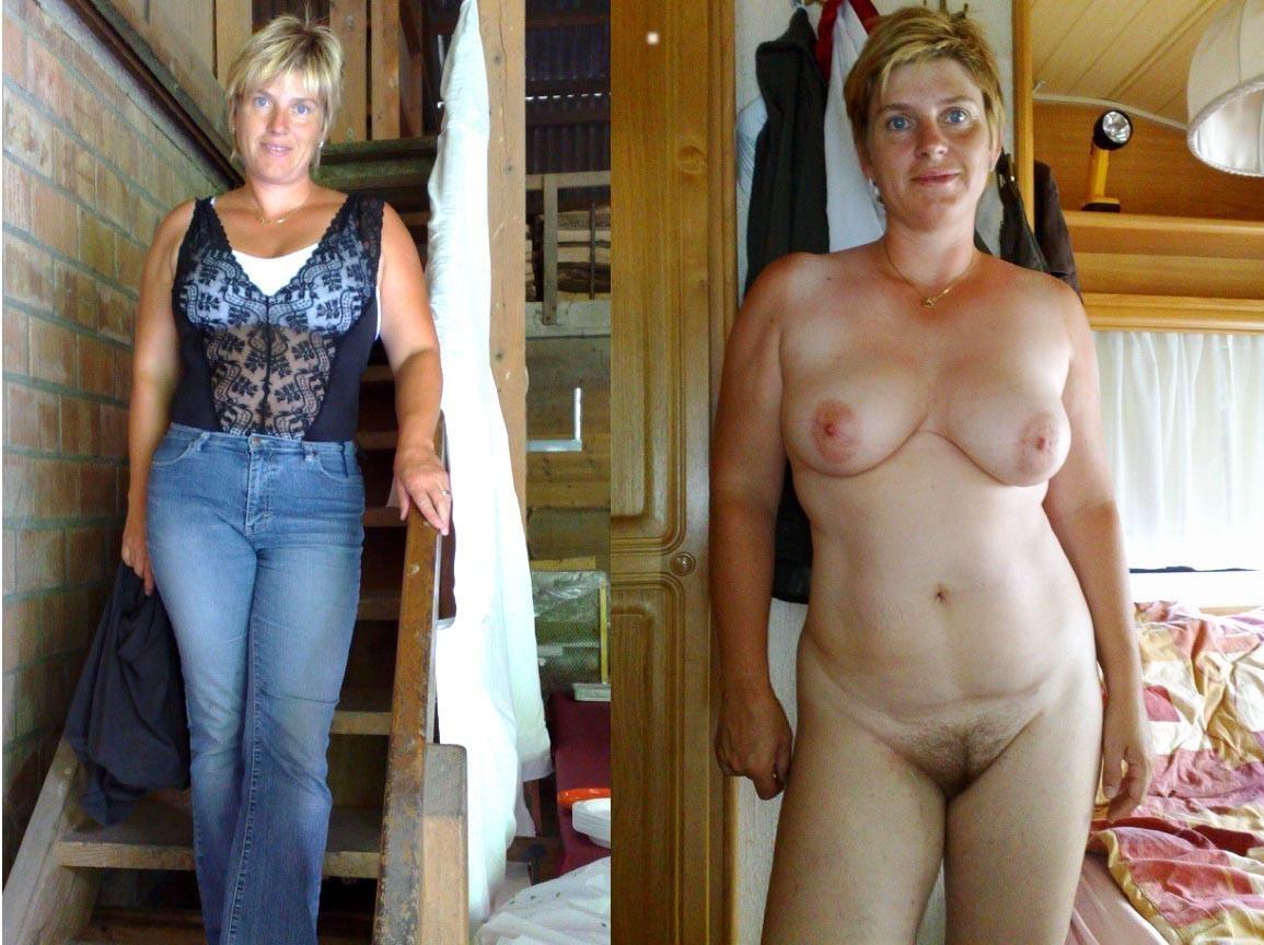 Mature mom undressing
