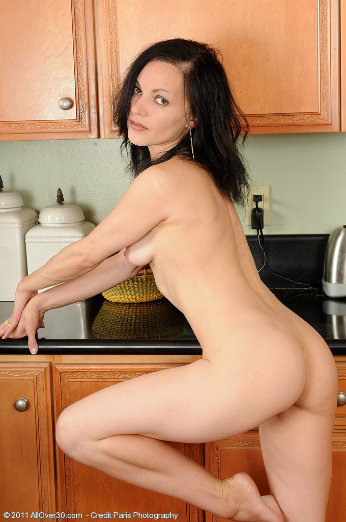 Fucked over the kitchen stove 10