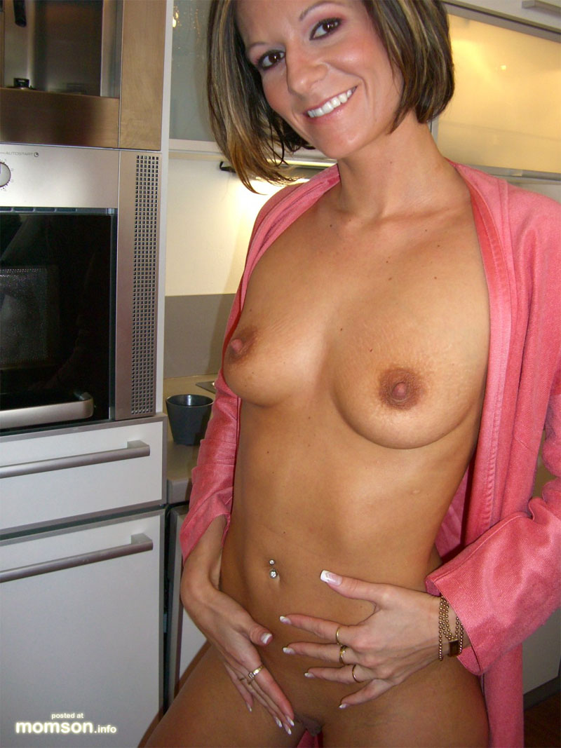 mom nudes in kitchen