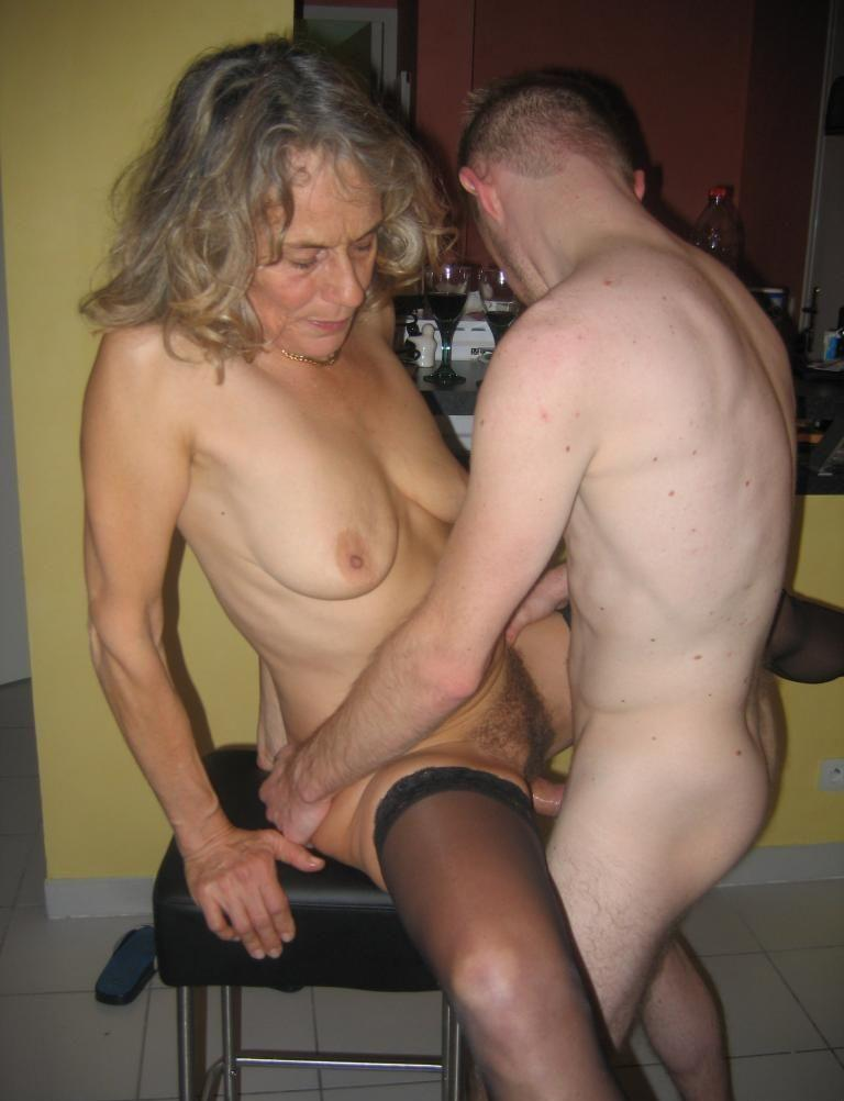 Grandmom and grandson sex