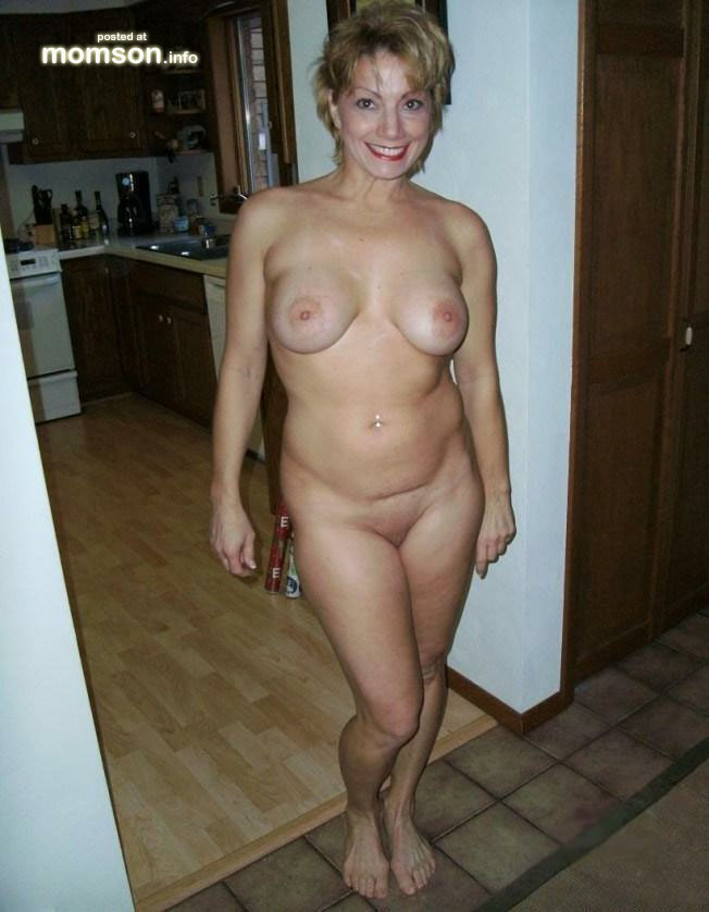 nude son and mom in kitchen