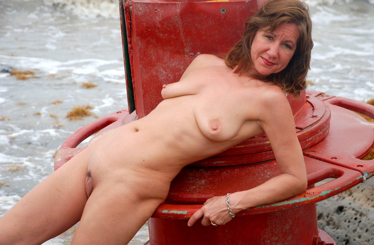 on beach nude moms Naked