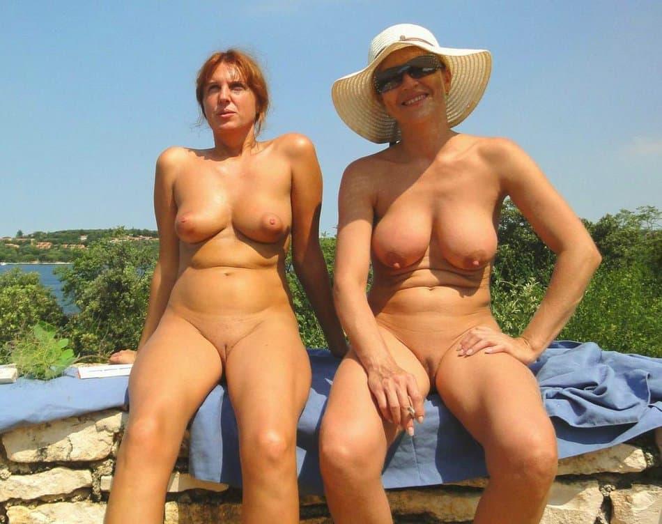 Beach hairy mature nude