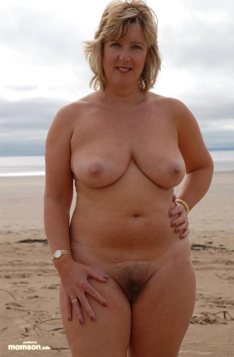 mature moms beach topless