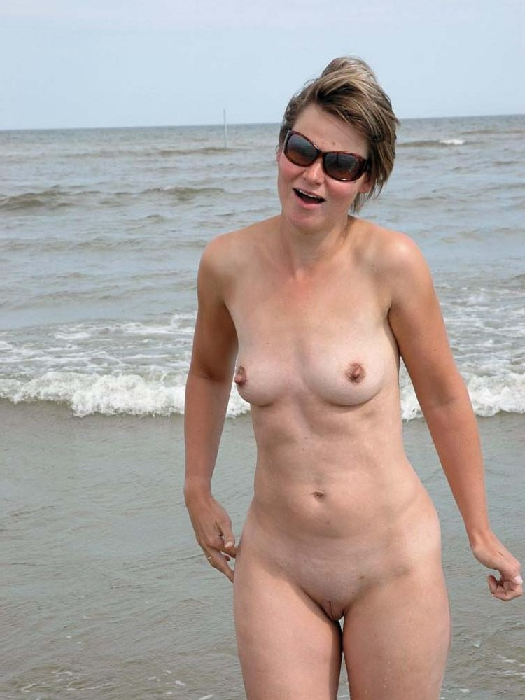 Mature nude at beach have