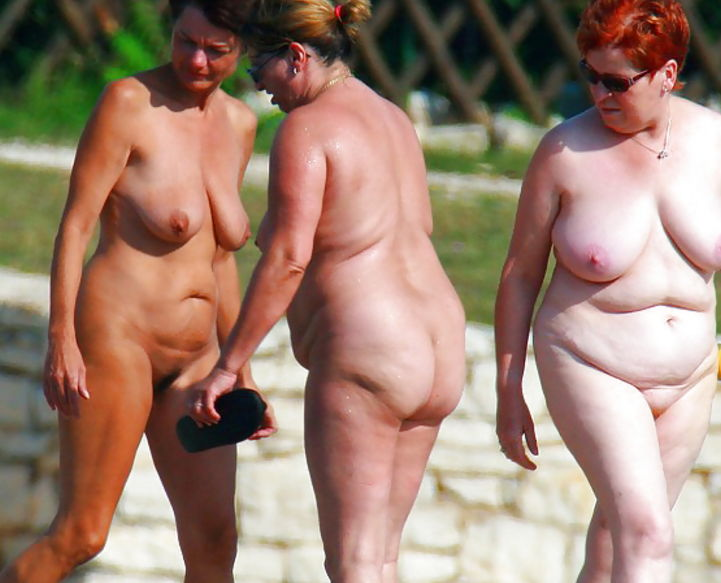 Old nudist women together
