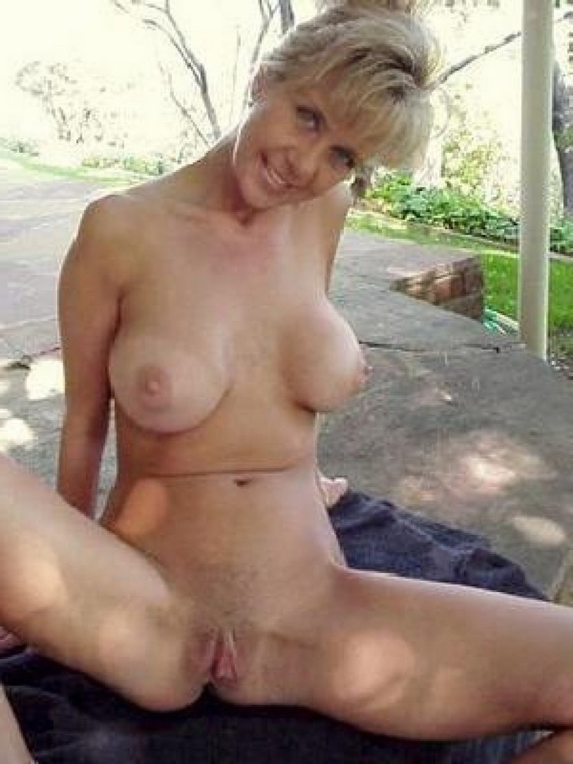 old woman at home naked