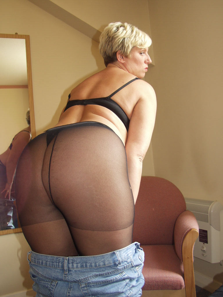 Pantyhose up skirt moms