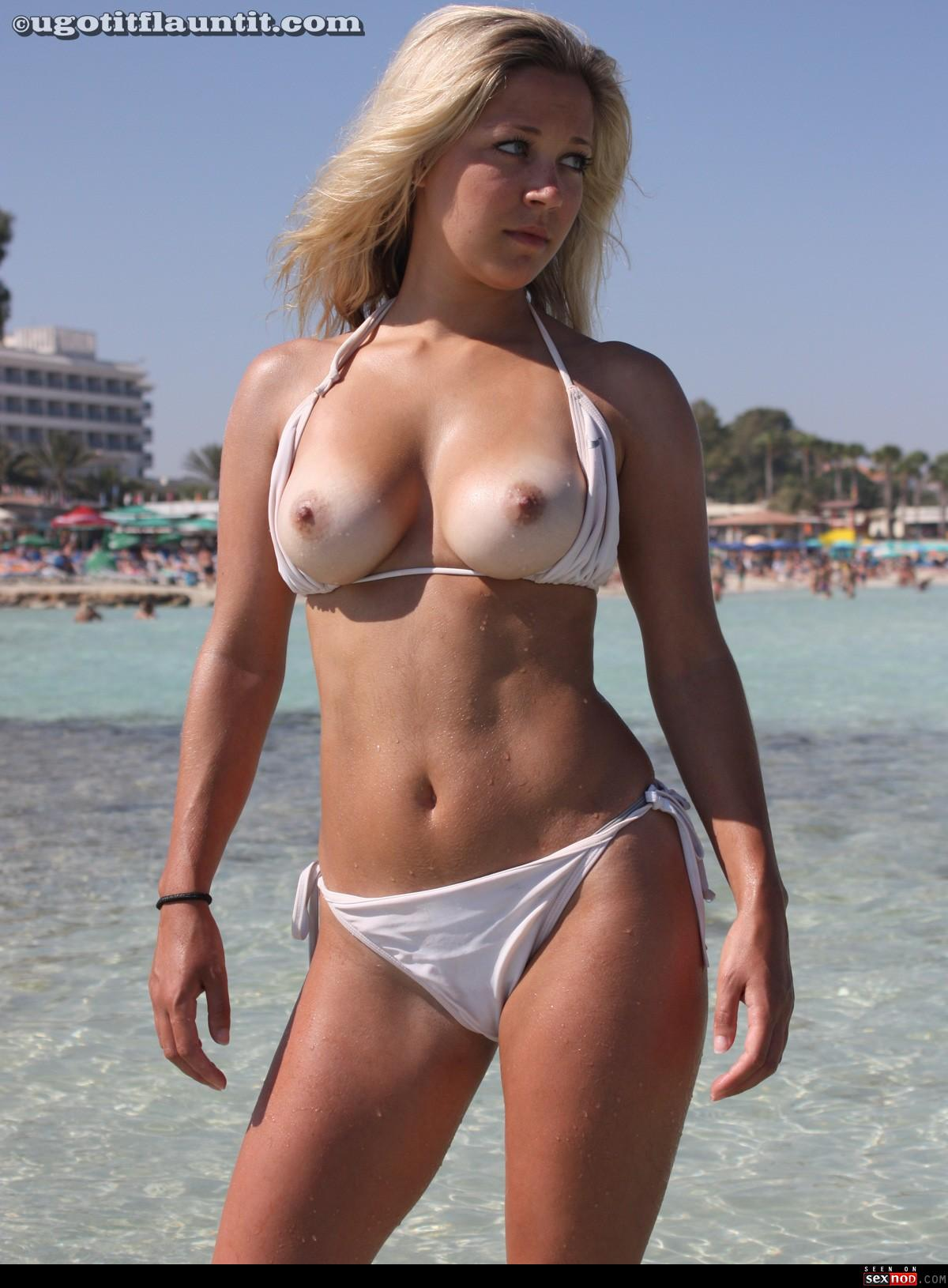 Remarkable, the Beach big bikini tit never