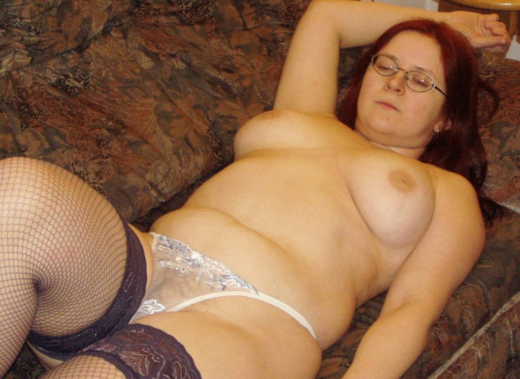 With pussy nylons chubby something
