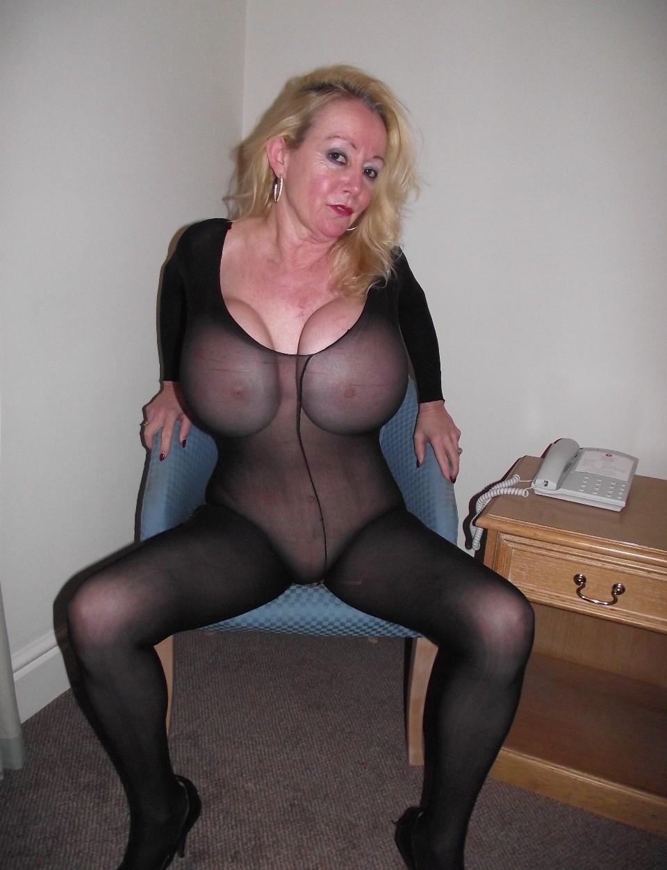 Amateur Blonde Big Tits Mature