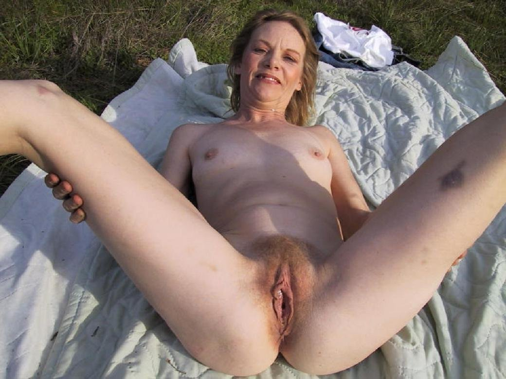 Old mature granny outdoors not leave!