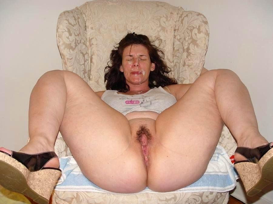Wife chubby mature cum on