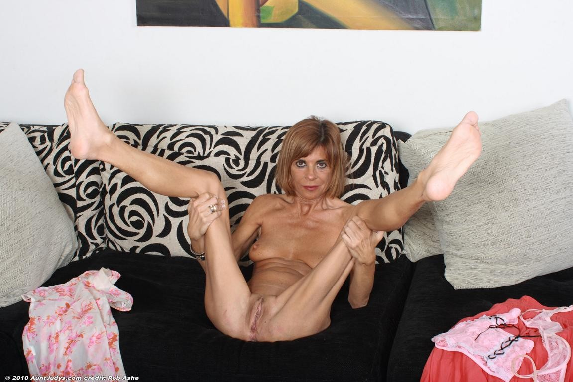With you Mature skinny naked legs