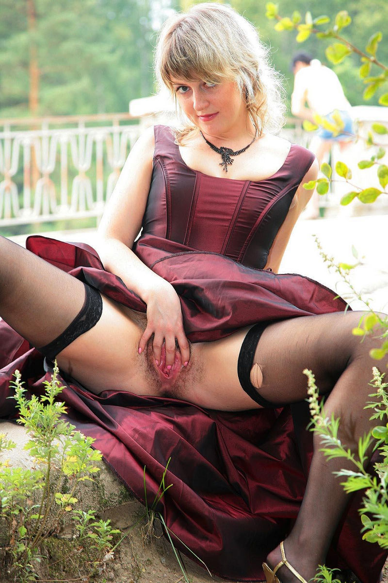 A french mature martine gangbanged outdoor 5