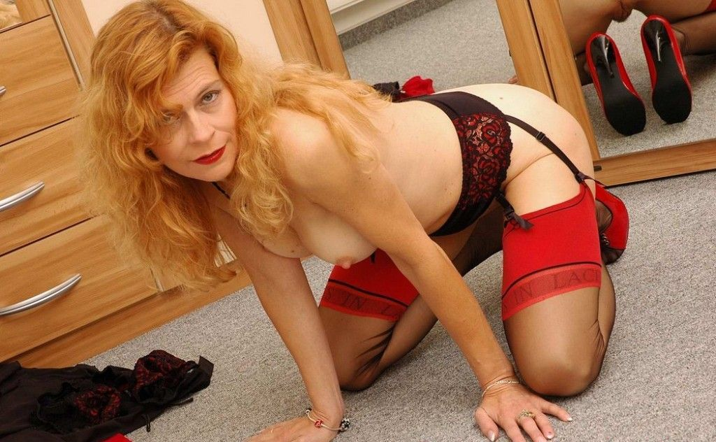 Women stockings mature