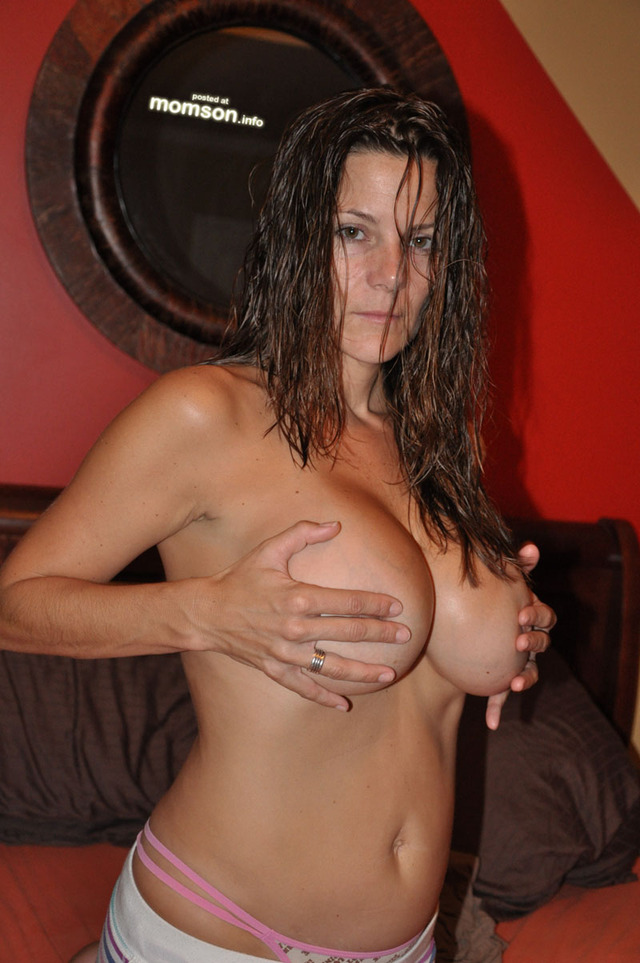 big naked moms hair mom mother wet breasts nipples holding pinching