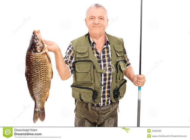 big pics mature mature photo white background rod fish isolated stock holding fishing fisherman