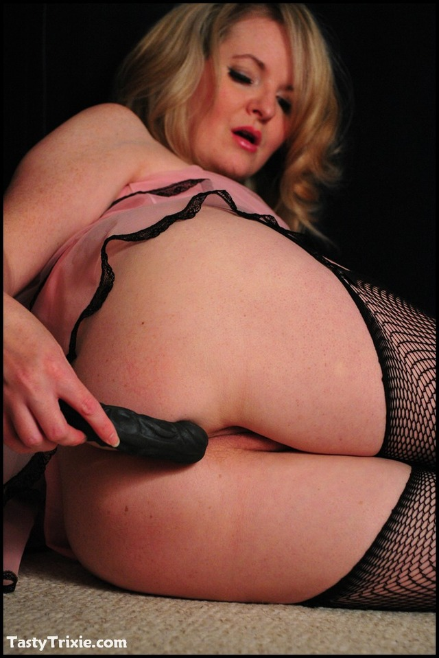 black free mature porn page black dildo housewife retro herself pink fishnets plugs nighty